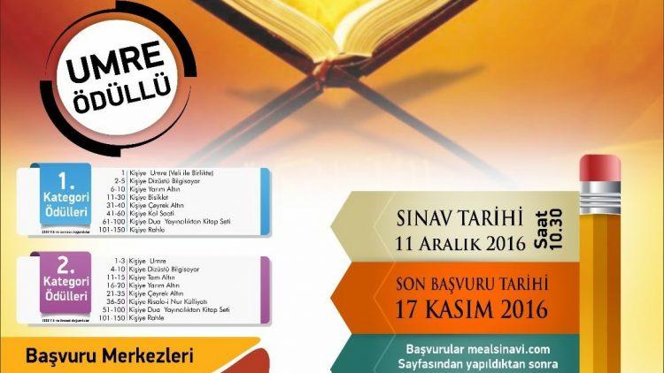 Kur'an Nesline Meal Sınavı